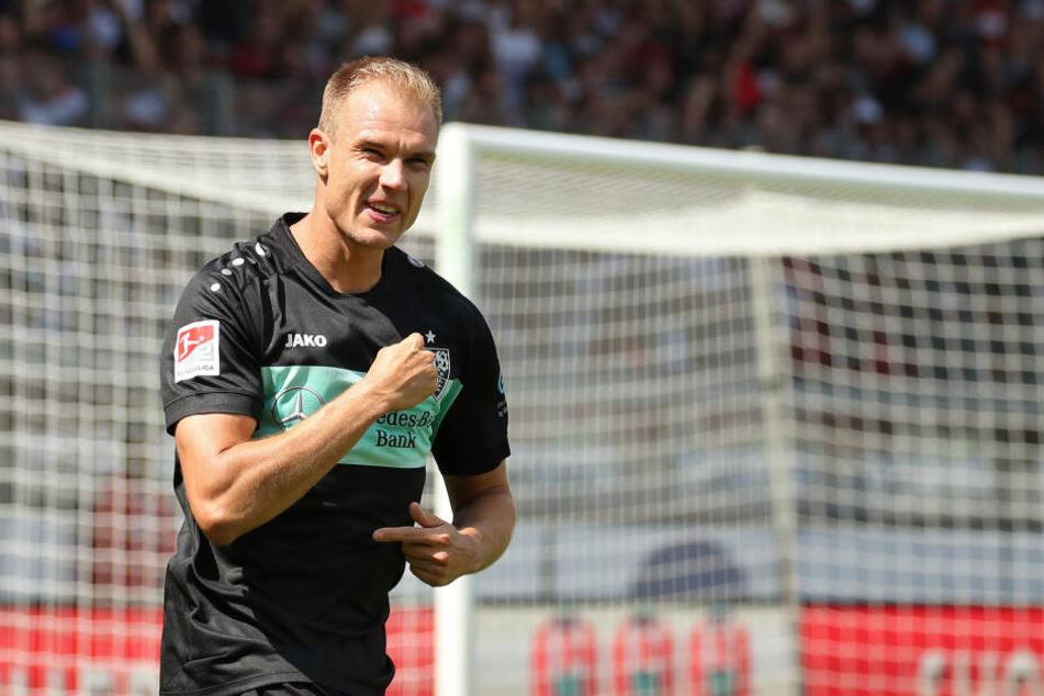 Holger Badstuber bejubelt seinen 2:0-Treffer gegen Heidenheim am 2. Spieltag. Am Ende hieß es 2:2.