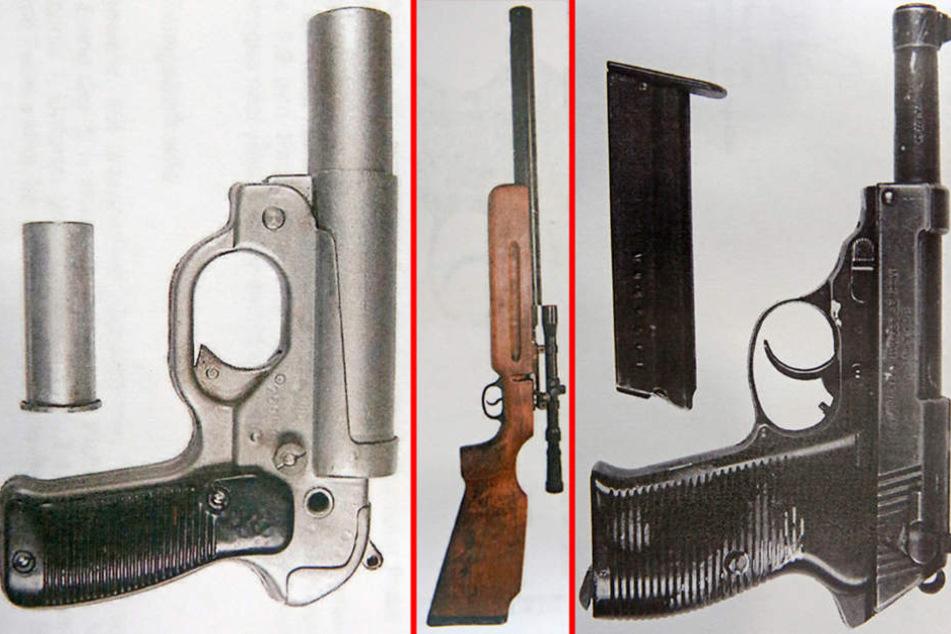 Wegen dieser drei Waffen saß ein 72-Jähriger vor dem Amtsrichter in Meißen.