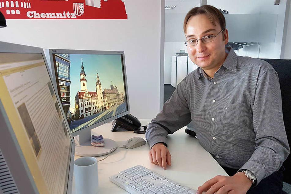 Sandro Schmalfuß (39) fordert eine Dauerausstellung, die die Geschichte des  Schlosses aufarbeitet.