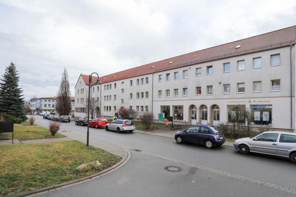 Der Häuserblock in Benndorf (Sachsen-Anhalt), indem die toten Säuglinge entdeckt wurden.