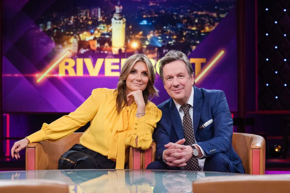 Das Riverboat-Moderatorenduo Kim Fisher (50) und Jörg Kachelmann (60).