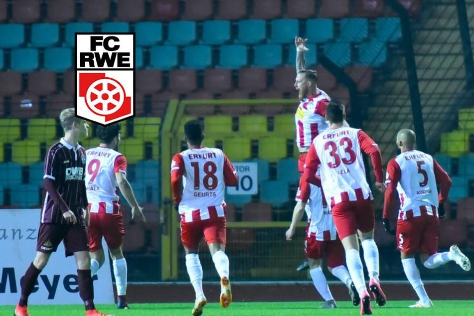 Rot-Weiß Erfurt gewinnt 3:0 beim BFC und festigt dritten Tabellenplatz