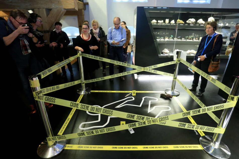 Krimi in Freiberg: In der Terra Mineralia wird ab morgen in einem Mordfall  ermittelt.