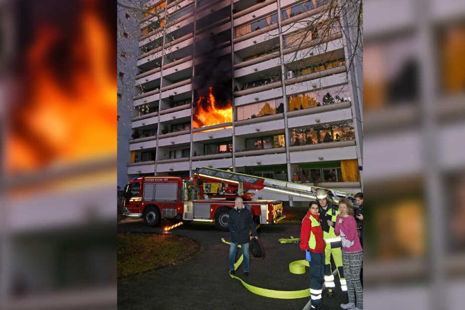 Die Feuerwehr konnte die Frau rechtzeitig retten.