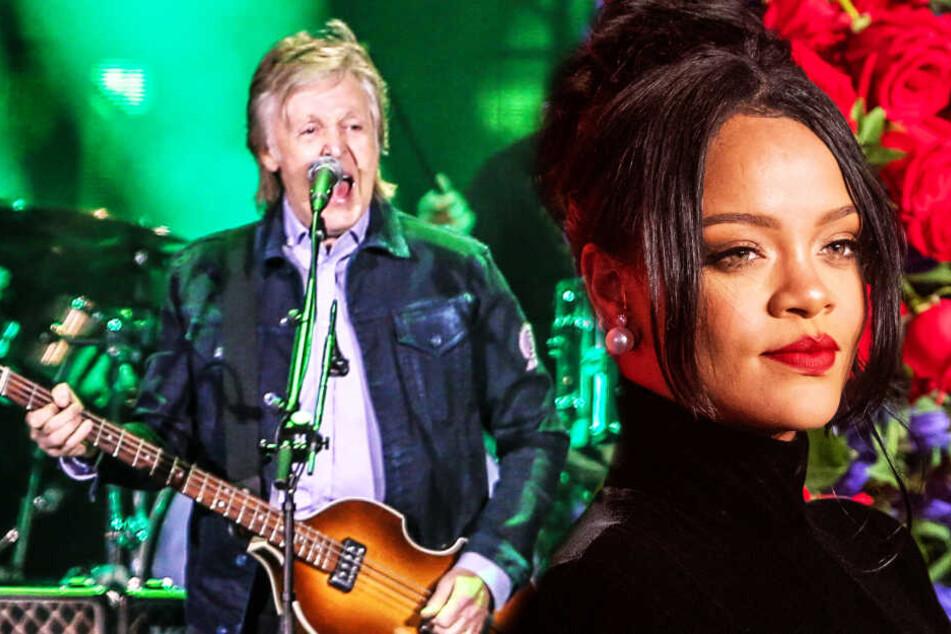 """Rihanna und Ex-Beatle Paul McCartney haben """"Beef"""" im Flugzeug"""