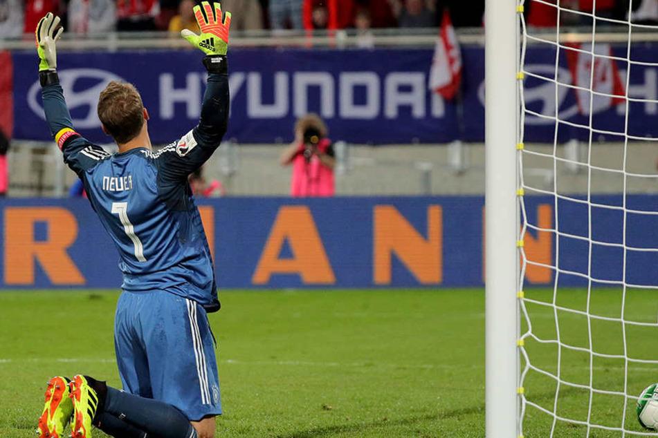 Manuel Neuer geschlagen. Der Torhüter lieferte eine starke Leistung ab.