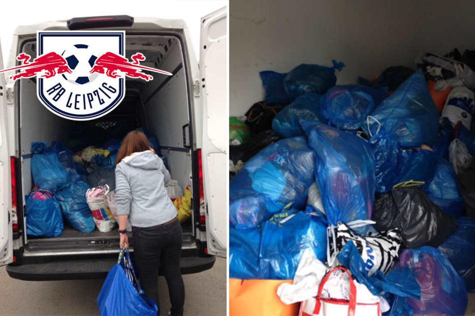 Super Aktion! RB-Fans sammeln tonnenweise Kleidung für guten Zweck