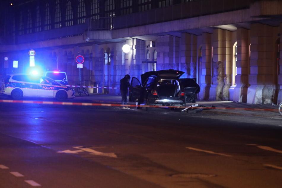 Die Bundespolizei sperrte den Bereich der Bayrischen Straße weiträumig ab