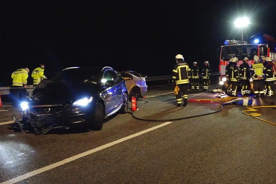 Horror-Crash Geisterfahrer auf A14 - Zwei Tote