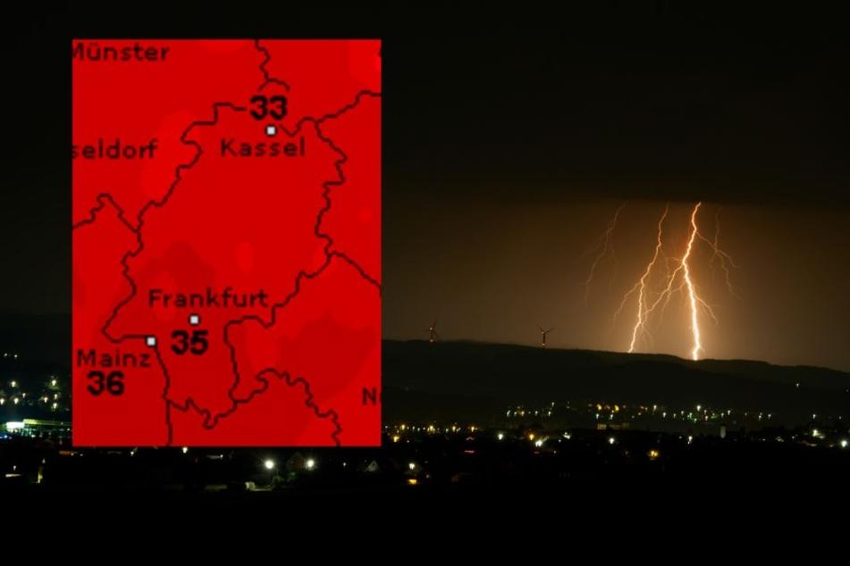 Trotz der Gewitter bleibt es in Hessen heiß!