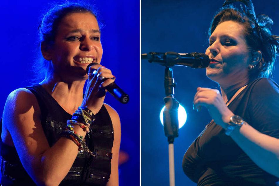 Die Sängerinnen Julia Neigel (l) und AnNa R. verstärken Silly bei ihrer Tour als neue Sängerinnen.