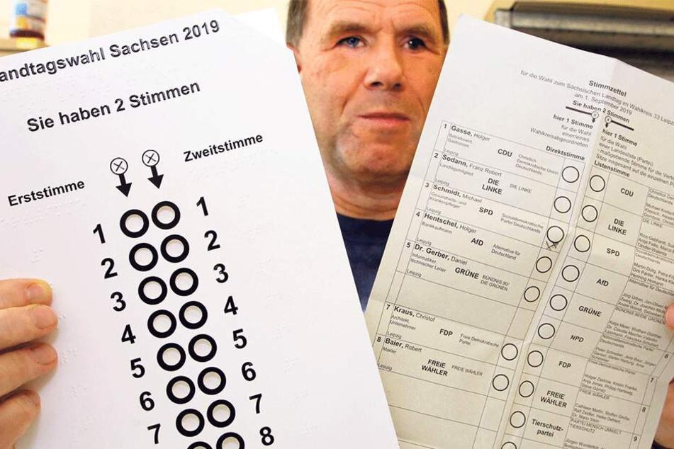 Wahlpanne behoben! Blinde wählten in Leipzig mit falschen Schablonen