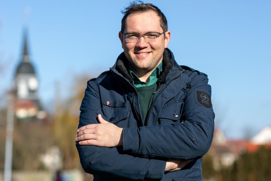 """Seine Gemeinde gilt seit Tagen als """"coronafrei"""": Falk Hentschel (35, CDU), Bürgermeister von Ebersbach."""