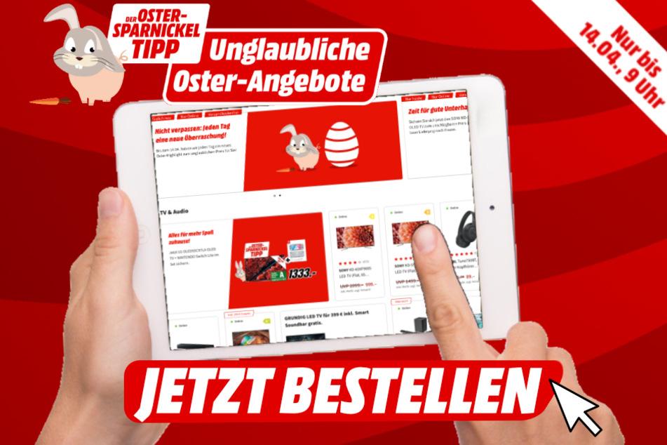 """Täglich ab 0 Uhr erwartet Euch ein neuer """"Oster-Sparnickel""""-Tipp auf MediaMarkt.de."""