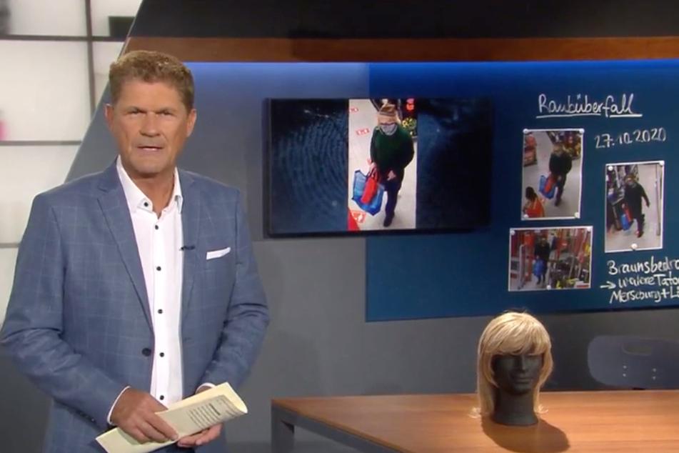"""Moderator Gerald Meyer in der aktuellen Episode der MDR-Sendung """"Kripo Live""""."""