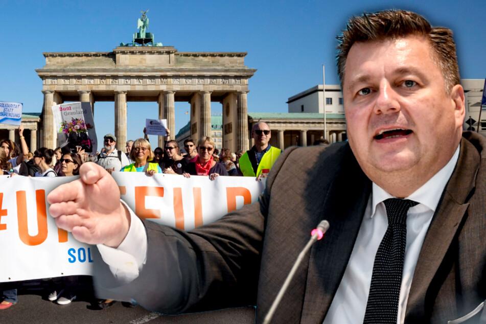 """Berlin bereitet sich auf 20.000 Menschen bei """"Unteilbar""""-Demo vor!"""