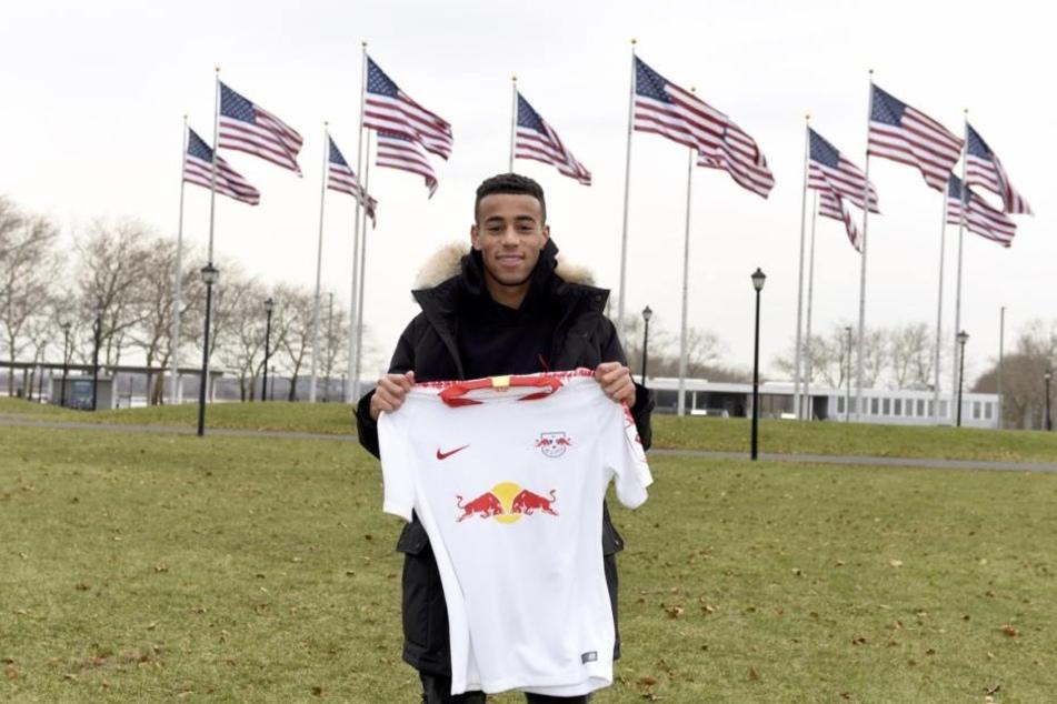 Tyler Adams (19) hat bei RB Leipzig einen Vertrag bis 2023 unterschrieben und läuft mit der Rückennummer 14 auf.