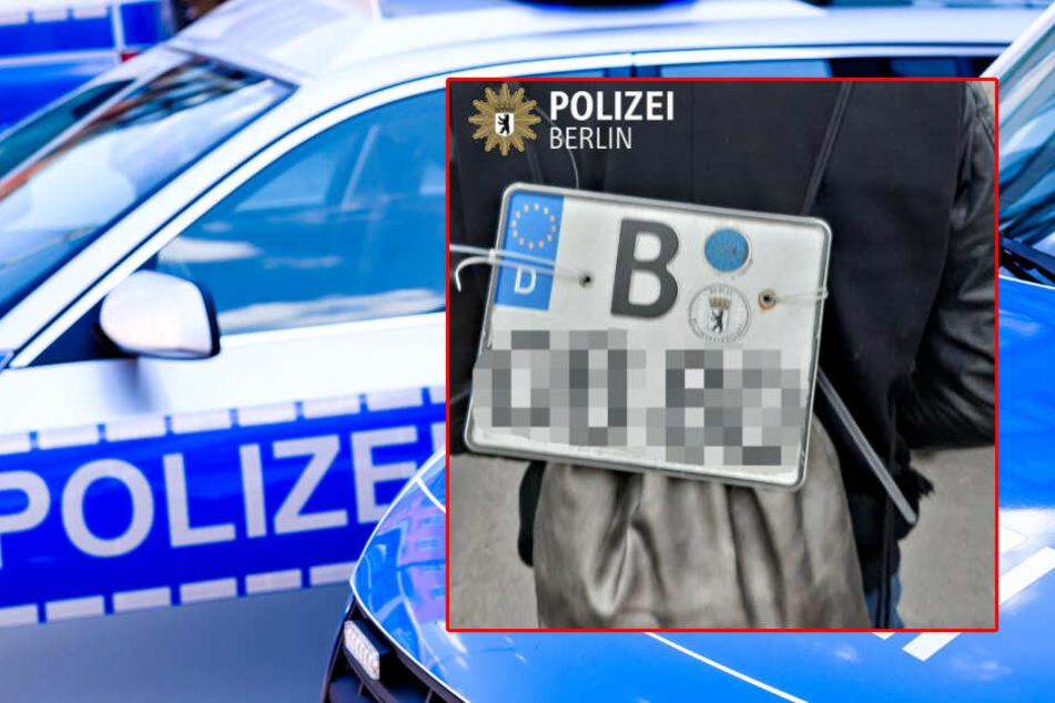 """""""Halterung dafür kaputt"""": Lappenloser Krad-Fahrer mit Fremd-Kennzeichen am Rucksack unterwegs"""