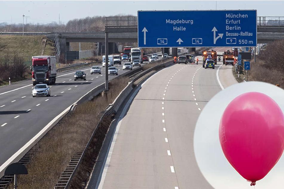 Eine Autofahrerin wollte eigentlich nur ihren Luftballon wieder einfangen, verriss dabei aber das Lenkrad ihres Wagens (Symbolbild).