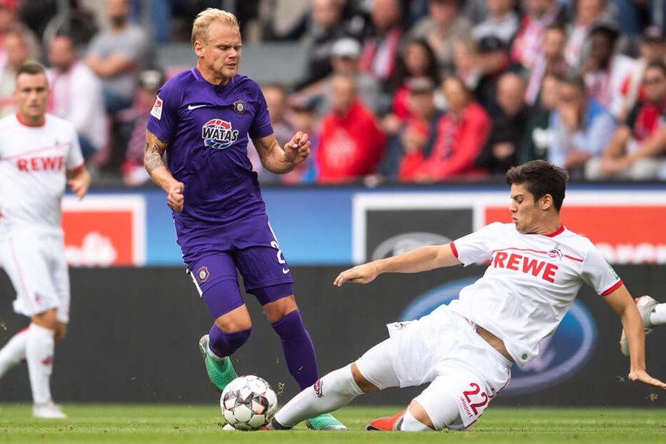 Kann Kölns Jorge Meré (21) auch im Rückspiel bei Erzgebirge Aue auflaufen?