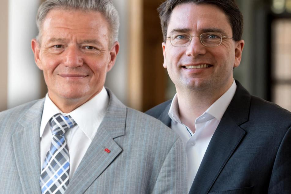 Horst Arnold (l.) und Florian von Brunn (r.) treten gegeneinander an. (Bildmontage)