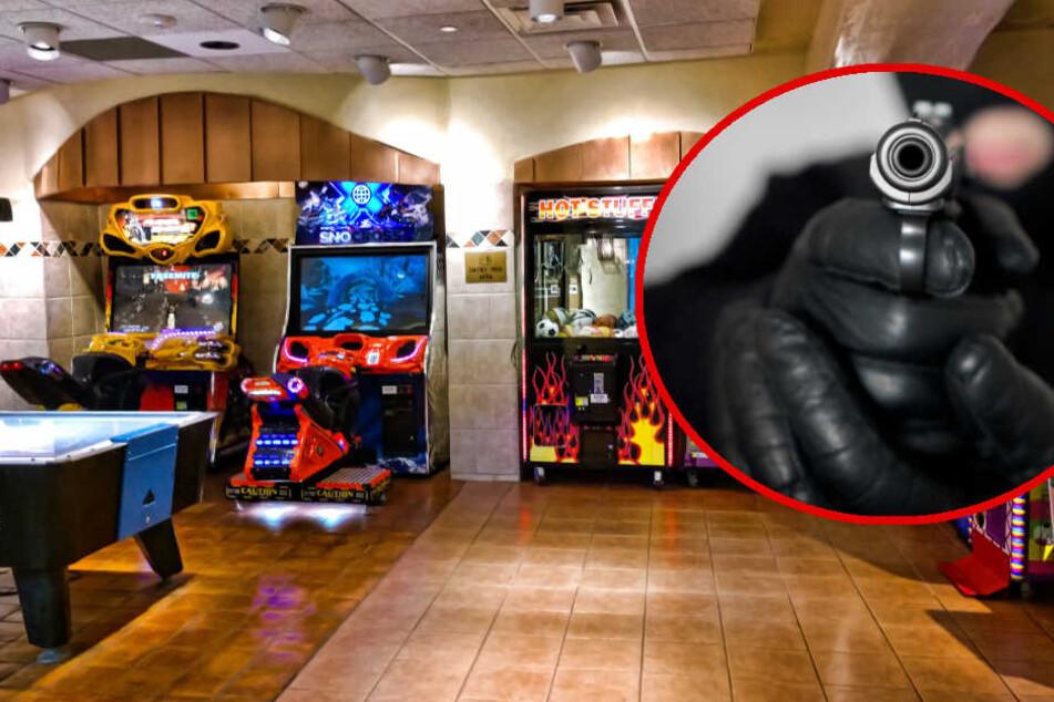 Maskierter überfällt Spielhalle: Polizei jagt bewaffneten Räuber