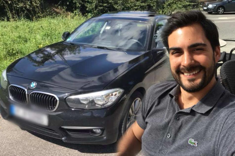 René Kessay (28) fand einen Zettel mit einer Entschuldigung in seinem Auto.