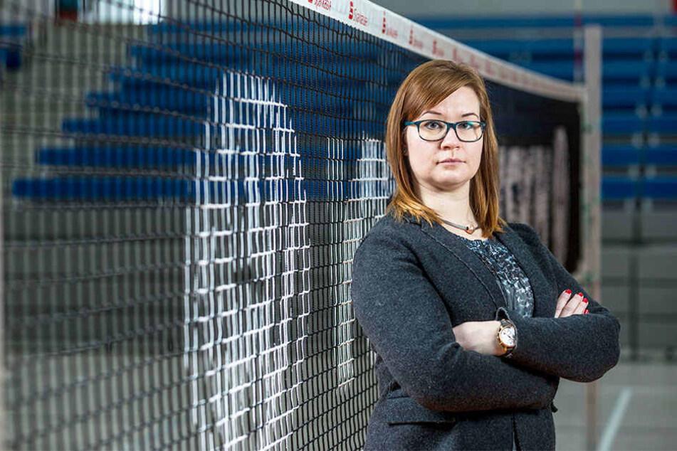 DSC-Geschäftsführerin Sandra Zimmermann befürchtet, dass wegen des späteren Anpfiffs gegen Schwerin weniger Zuschauer in die Margon Arena kommen könnten.