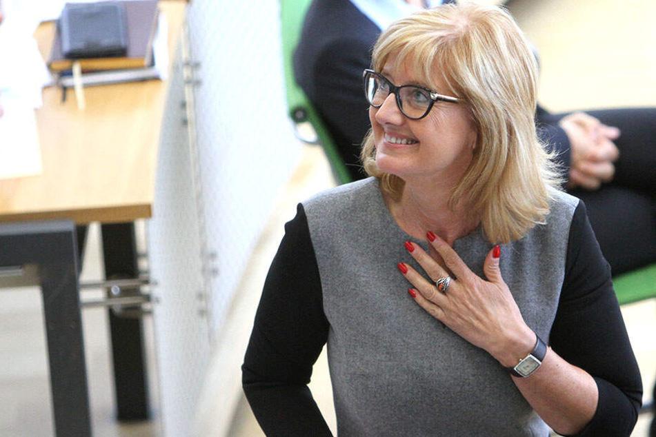 Andrea Dombois (61, CDU) nach ihrer Wahl zur Vizepräsidentiin im Jahr 2014.