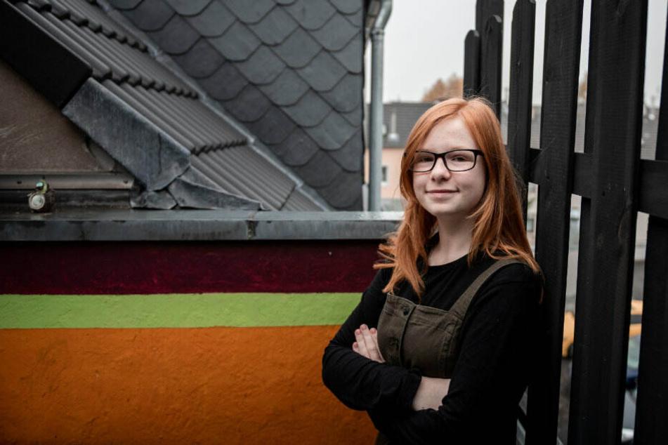 Zoe auf dem Dach, wo sie zur Heldin wurde.