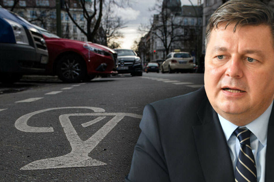 """Die Aktion soll Autofahrer für das Thema """"Falschparken"""" sensibilisieren. (Bildmontage)"""