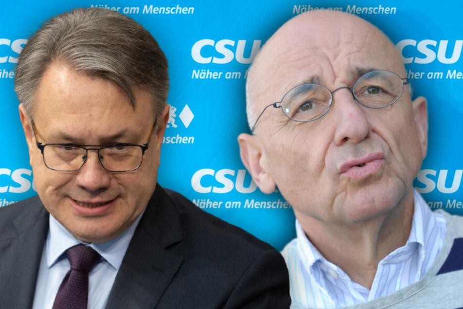 Den CSU-Politikern Georg Nüßlein (52, l.) und Alfred Sauter (70) wird vorgeworfen, sich mit Maskendeals in den Corona-Pandemie persönlich bereichert zu haben.