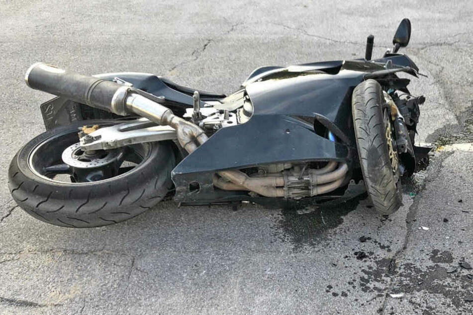 Die Honda Fireblade des in Heiligenhaus verunglückten Motorrad-Fahrers.