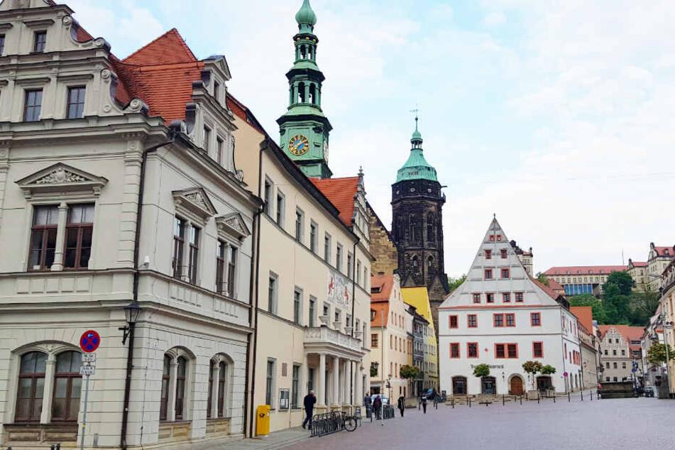 Der Marktplatz von Pirna.
