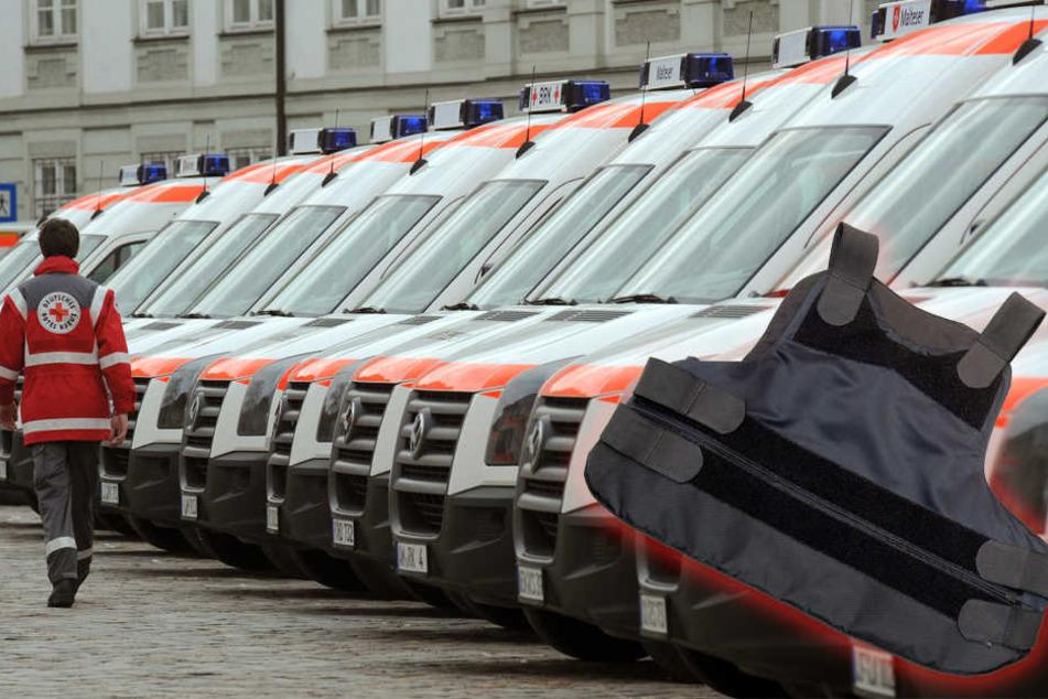 In Chemnitz und im Erzgebirgskreis können sich Rettungskräfte nun mit schusssicheren Westen schützen.