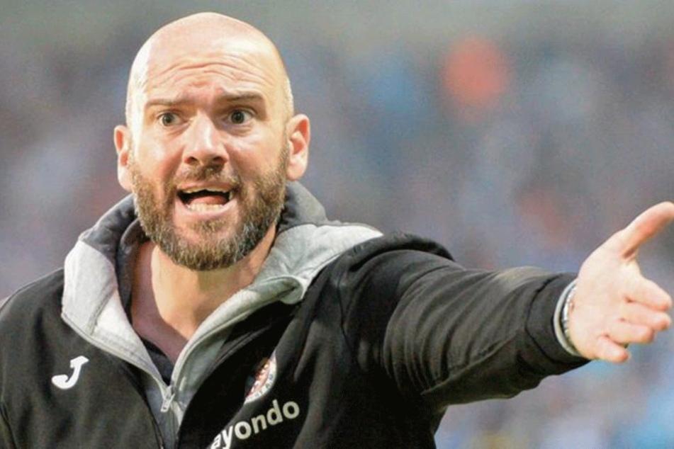 Frankfurt-TrainerRoland Vrabec kritisierte die FSV-Zwickau-Fans scharf.