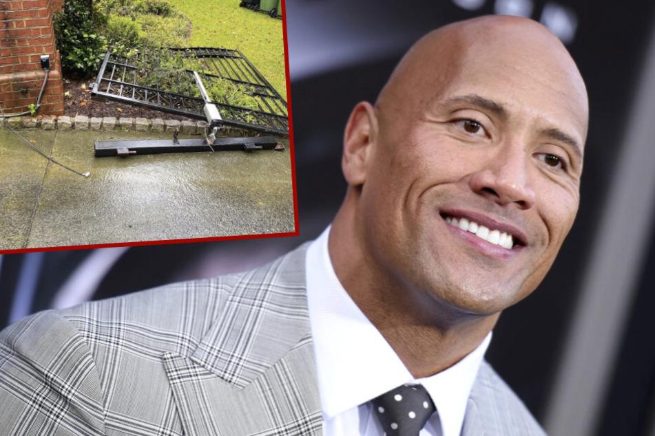 "Hollywood-Star ""The Rock"" reißt eigenes Hoftor aus Mauer heraus"
