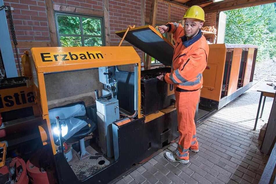 Florian Altmann (27) kümmert sich ehrenamtlich um die 160 Jahre alte Erzbahn.