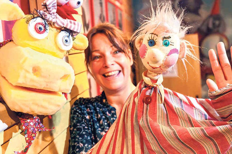 Die aus Hessen stammende Sabine Weitzel ist einer der personellen Neuzugänge  beim Puppentheater Zwickau. Das hat den Besitzerwechsel im Sommer 2016 gut  verkraftet.