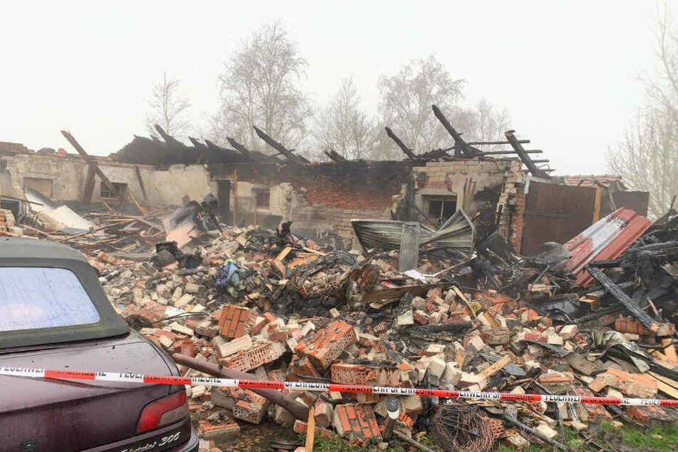 Der Stall wurde bei dem Brand komplett zerstört.