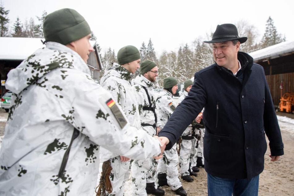 """""""Marshall-Plan"""" zur Verteidigung: Söder will Bundeswehr besser ausstatten"""
