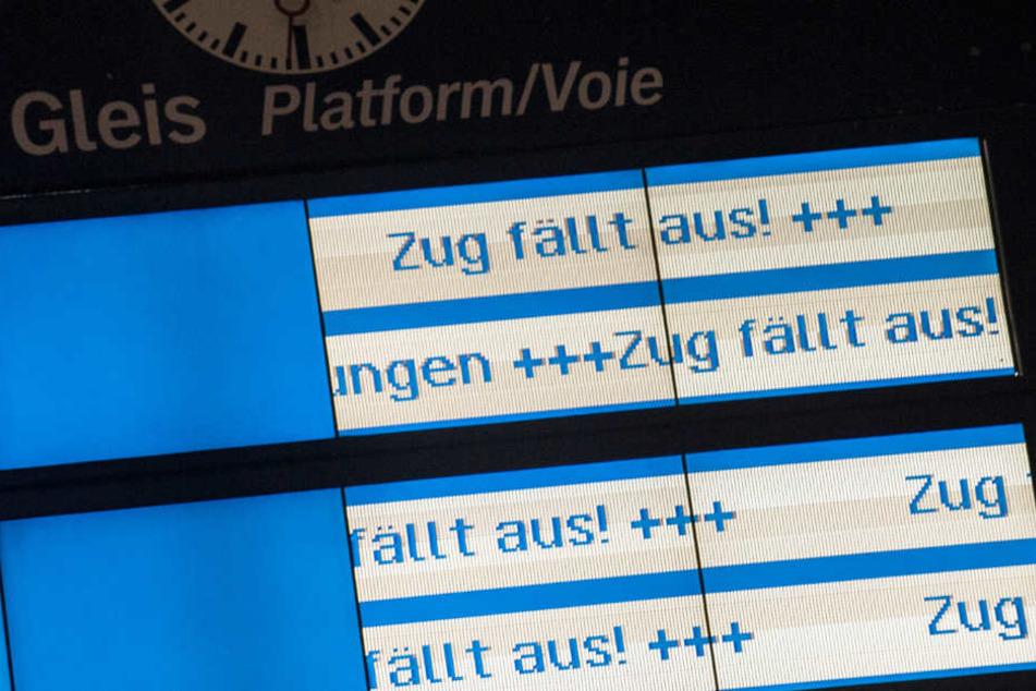 Einige Zugverbindungen werden in der kommenden Woche ausfallen.