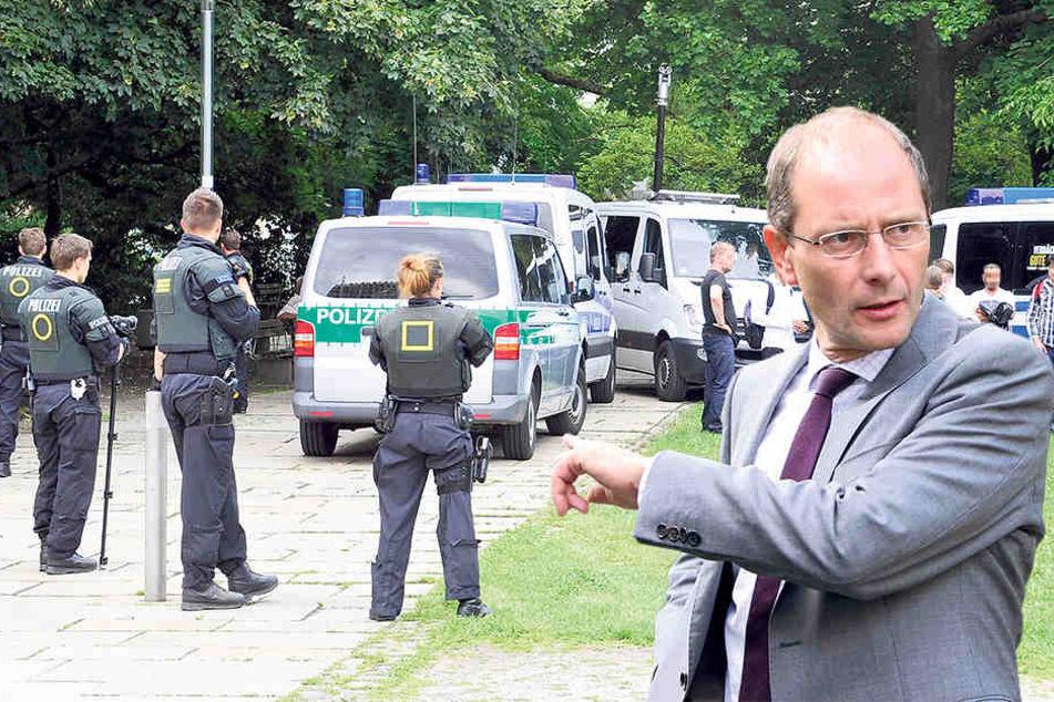 Innenminister Markus Ulbig (52, CDU) hat auf Grünen-Anfrage die Straftaten im  Stadthallenpark zusammengetragen.