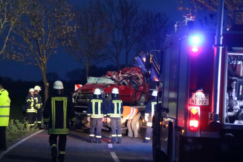 In Brandenburg kam es am Samstagabend zu einem schweren Unfall.