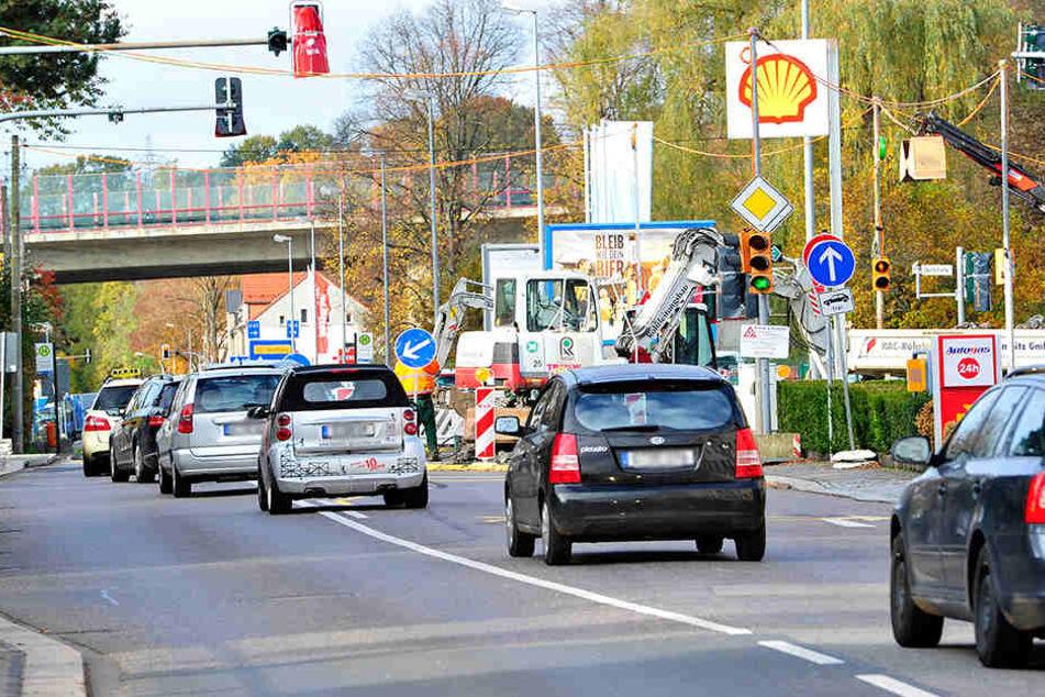 Staufalle Glösa: Noch bis Sonnabend brauchen Autofahrer viel Geduld.