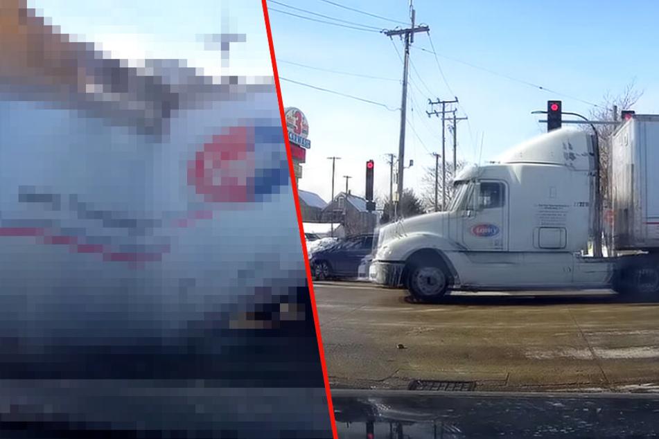 Lkw überquert Kreuzung: Was dann passiert, hat niemand kommen sehen