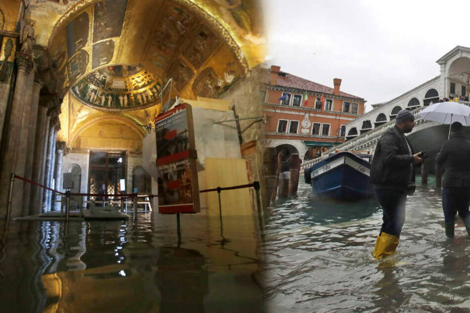 Venedig versinkt im Hochwasser: Zwei Tote