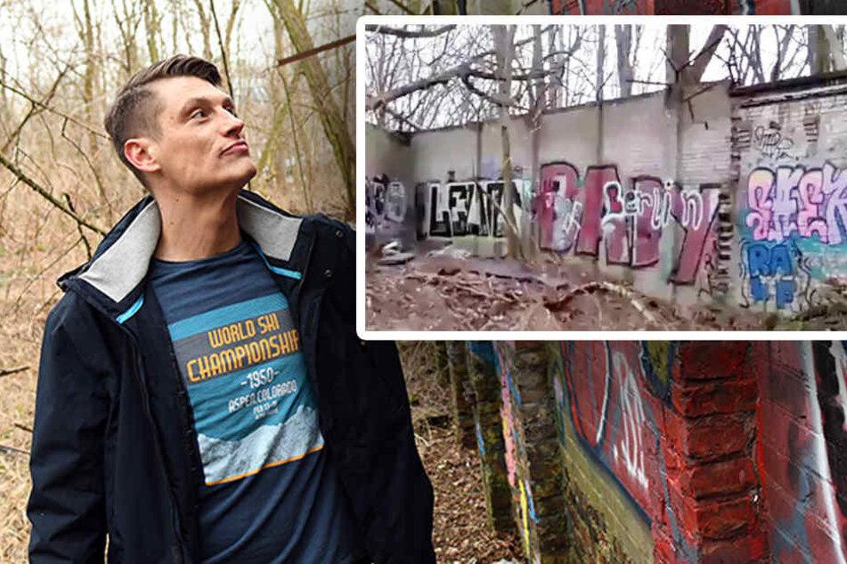 Hat Christian Bormann wirklich die Ur-Mauer gefunden? (Bildmontage)