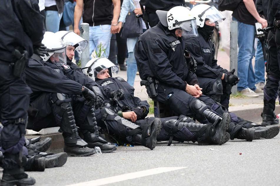 In Chemnitz gab es mehr Angriffe gegen Polizisten.
