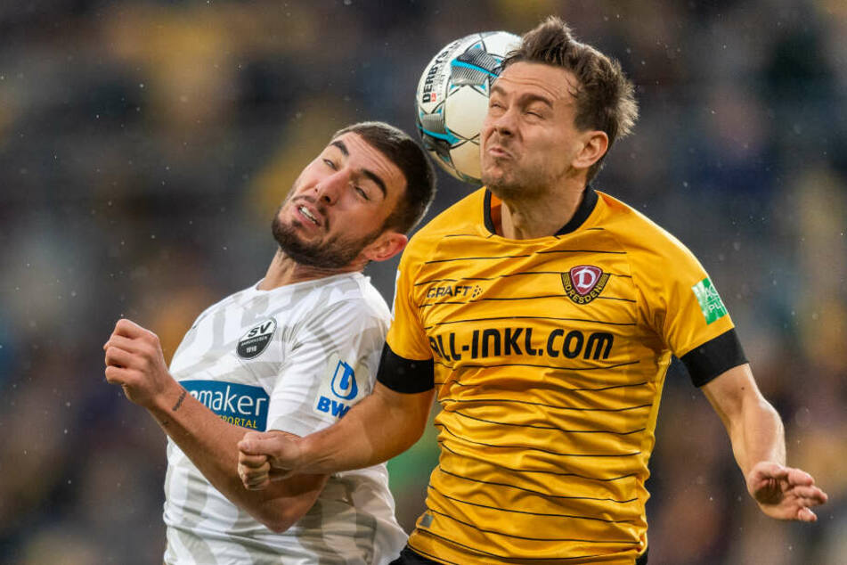 Fehlt Dynamo Dresden in Nürnberg: Chris Löwe (r.)
